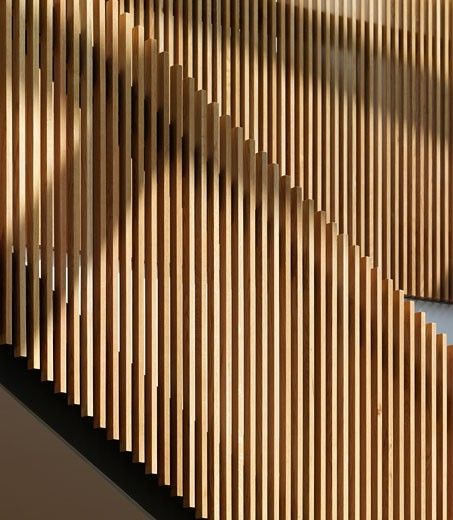 Ericsson Ansty Park Offices, Coventry, United Kingdom, Allies and Morrison, Ericsson ansty park office buildings coventry allies and morrison timber staircase interior detail. : Stock Photo