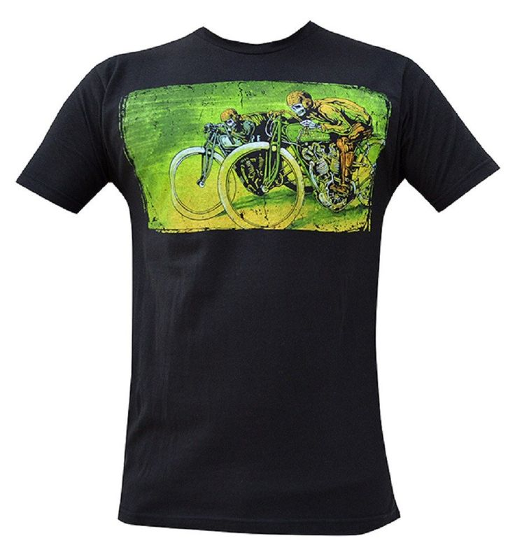 Men's Board Track Racers by David Lozeau Motorcycle Tattoo T Shirt – moodswingsonthenet