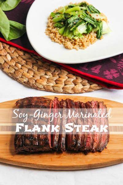 Soy-Ginger Marinated Flank Steak | TheCornerKitchenBlog.com #recipe