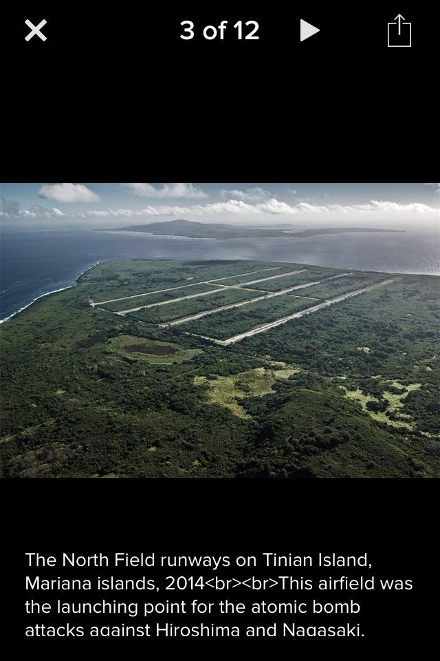 Tinian island northern mariana islands - airfield used to launch atomic bombs Hiroshima and Nagasaki
