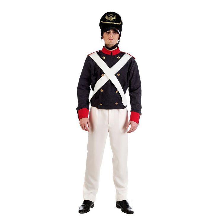 Uniforme de soldado ruso siglo XIX para hombre