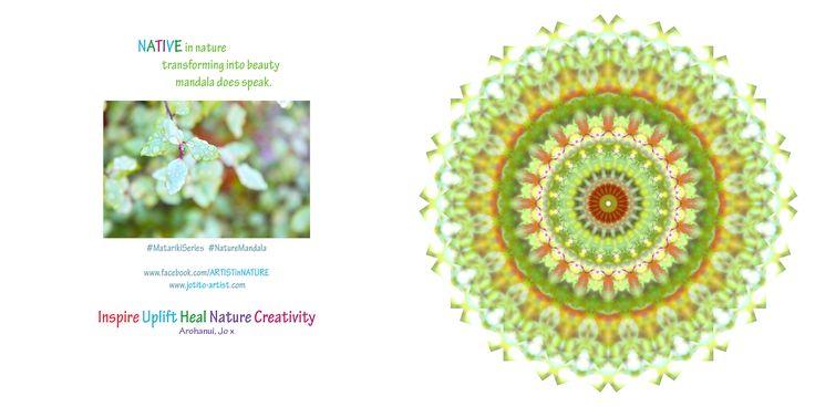One of my mandala gift cards - Mandala Gift Card series 2014