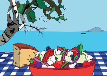 In Grecia non esiste l'insalata greca! Slow Food Tracia ci rivela la sua ricetta per le variazioni dell'autentica horiatiki dell'insalata estiva, determinate dall'infinita diversità dei pomodori, del formaggio feta e delle varietà di olive...