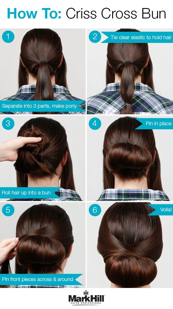 Check out how to achieve simple sophistication with this criss cross bun tutorial.