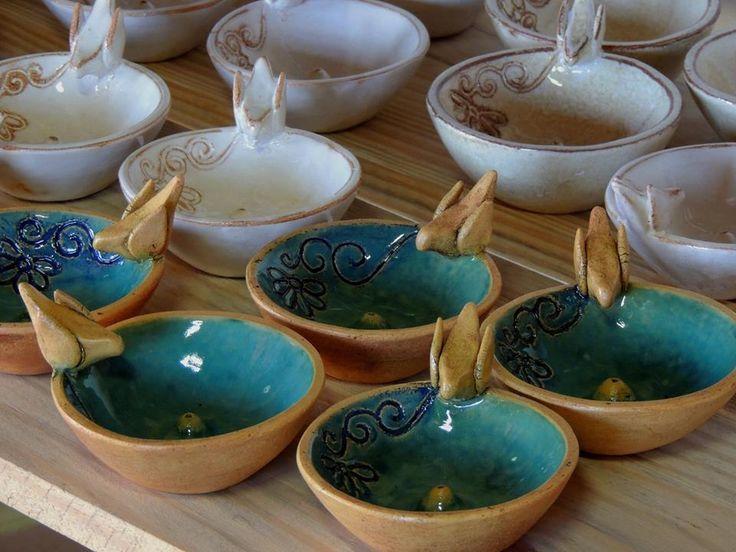 Incens rios artesanais em cer mica artesanato Ceramica artesanal valencia