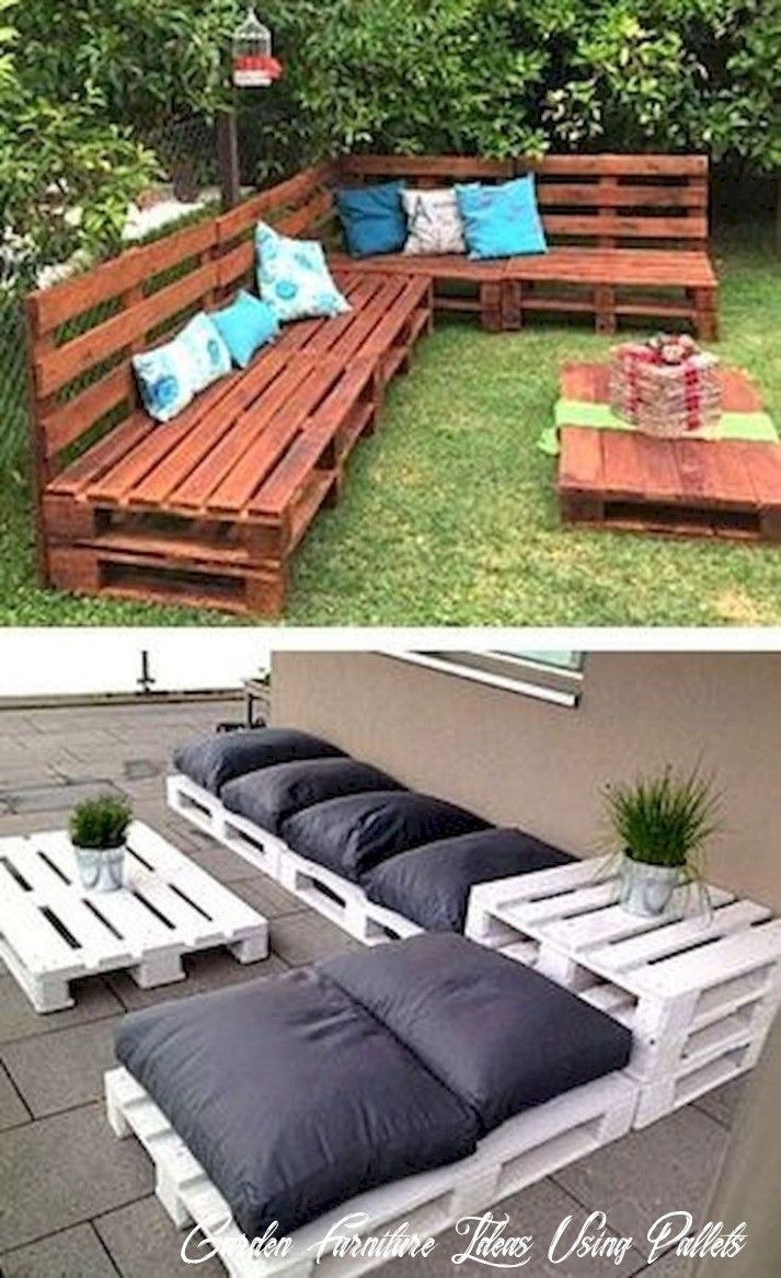 16 Garden Furniture Ideas Using Pallets in 16  Pallet furniture