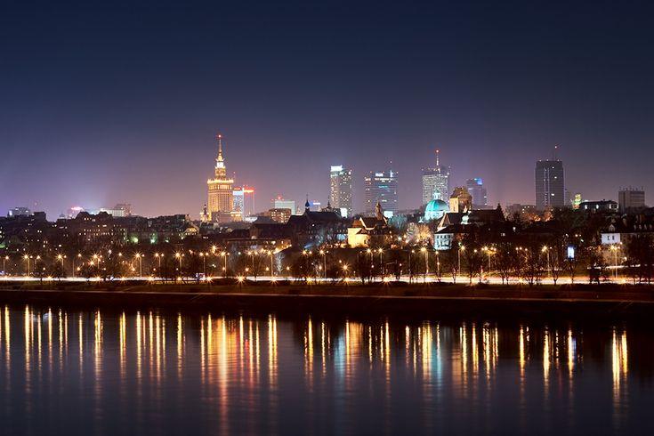 Warszawa nocą z tuba.pl