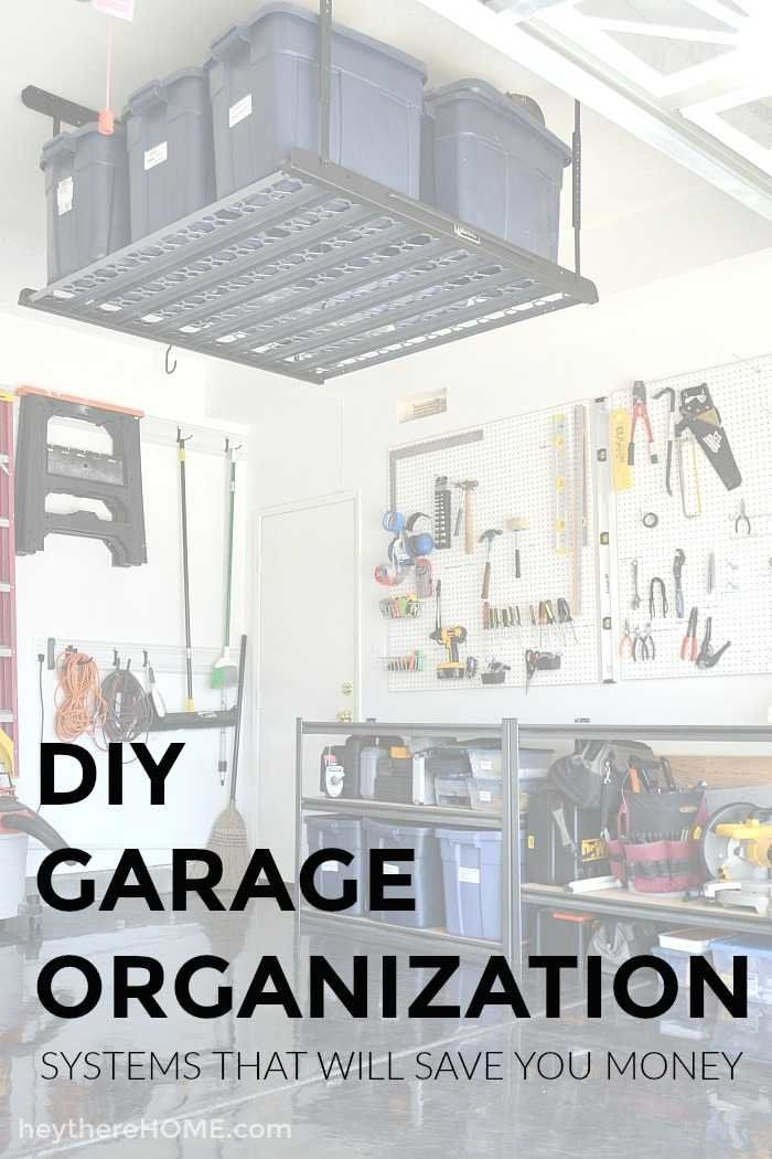This garage was so unorganized and now it has tool storage, bike storage, and long term storage. They used DIY garage organization systems and clever garage storage in this DIY garage makeover to completely transform their garage including a DIY painted garage floor.