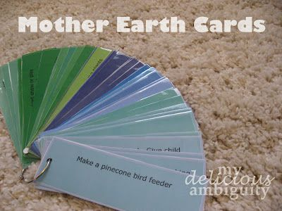 Mother Earth Cards -  Pinned by @PediaStaff – Please Visit http://ht.ly/63sNt for all our pediatric therapy pins