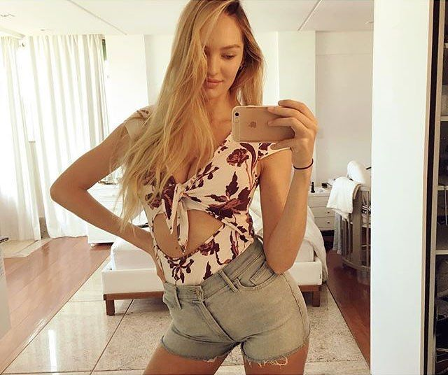 Candice Swanepoel Celebrates One Month of Motherhood With a Post-Baby-Body Selfie