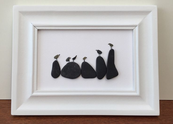 Birds On The Rocks by NisisArts on Etsy