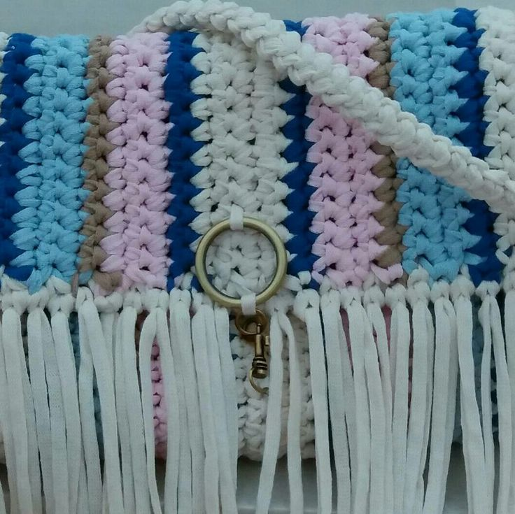 AMARYliz crossbody crochet bag 100% cotton - machine washable  - by passionis_handmade_accessories