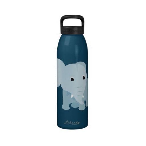 Cute Baby Elephant Reusable Water Bottle