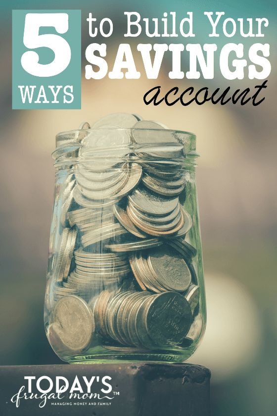 Carlie shares '5 Ways to Build Your Savings Account' without stressing out your budget, mind, or family. :: Today's Frugal Mom