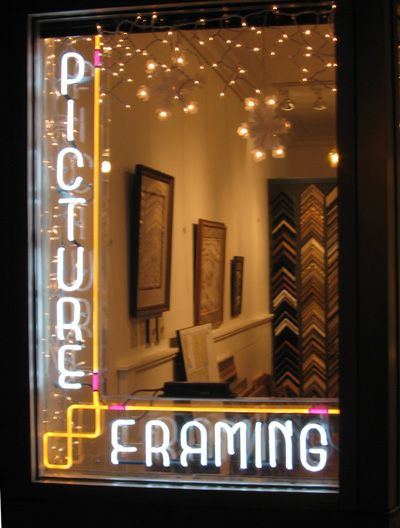 Picture Framing neon sign