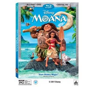 Moana (Blu-ray + DVD + Digital) 2 Disc : Target