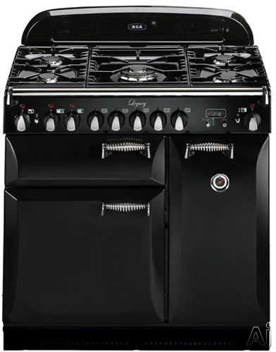 """AGA ALEG36DF 36"""" Pro-Style Dual Fuel Range with 2.2 cu. ft. Convection Oven, 1.8 cu. ft. 7-Mode Multifunction Oven, Broiling Oven, Manual Cl..."""