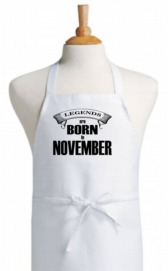 November themed bib kitchen apron  original design apron