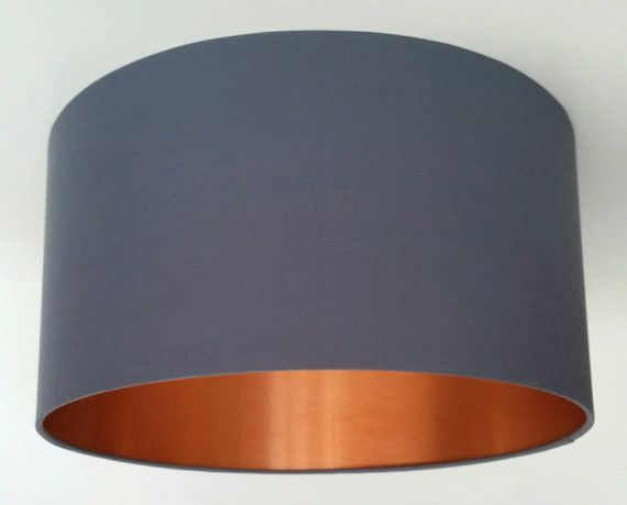 Brushed Copper Lined Fabric Lampshade in Your Choice of Colour