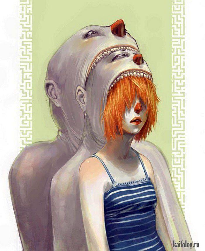 Страшные картинки и рисунки (55 картинок)