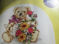 Bengry Bear Say It With Flowers The World of Cross Stitching  Issue 93 January 2005 Saved