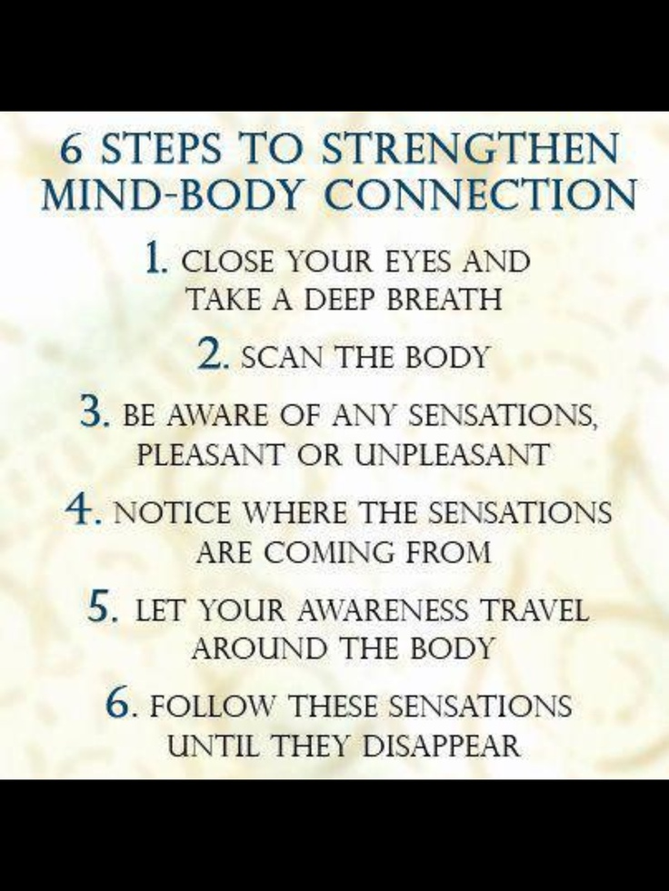 Healthy mind-body connection