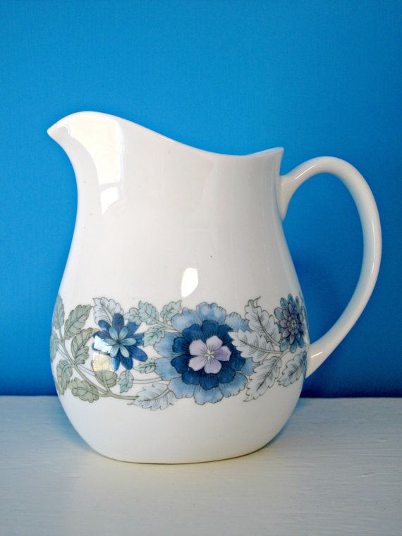 Vintage Wedgwood China Milk Jug Pitcher Floral Via Etsy