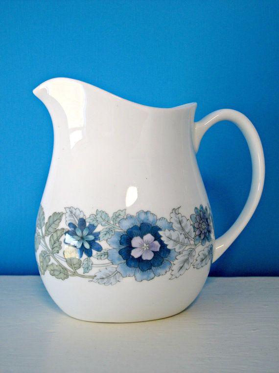 Vintage Wedgwood China Milk Jug / Pitcher Floral via Etsy