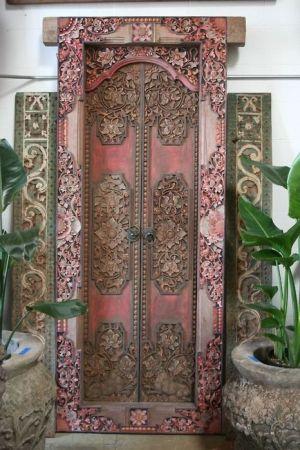 Ornate pink door...