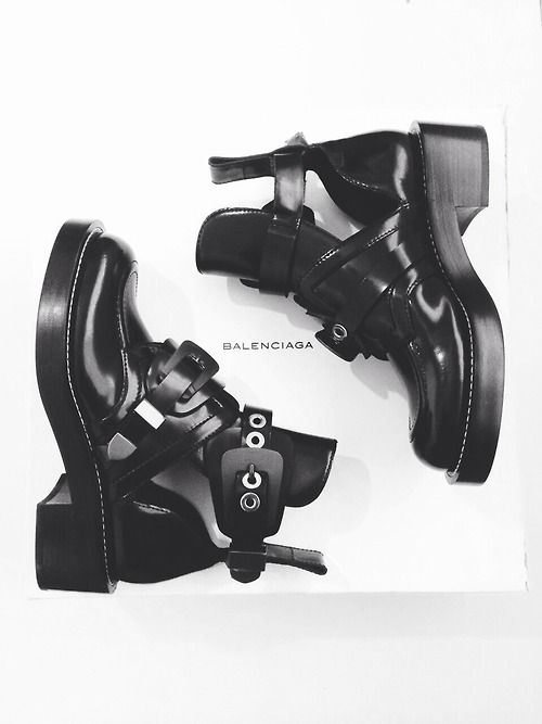 Balenciaga cut-out boots