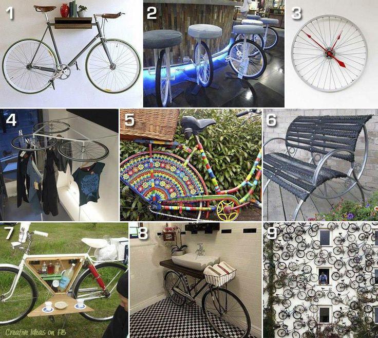 Re-bicycling   ... Vi piace?  #RicicloCreativo #EcoDesign  SEGUICI SU: www.facebook.com/CreoEco www.pinterest.com/CreoEco