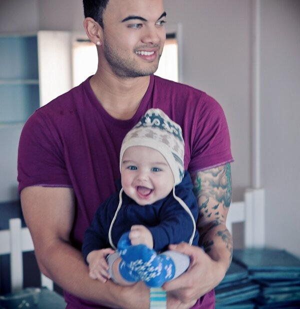 Guy Sebastian with his son Hudson. Could he be any more gorgeous.