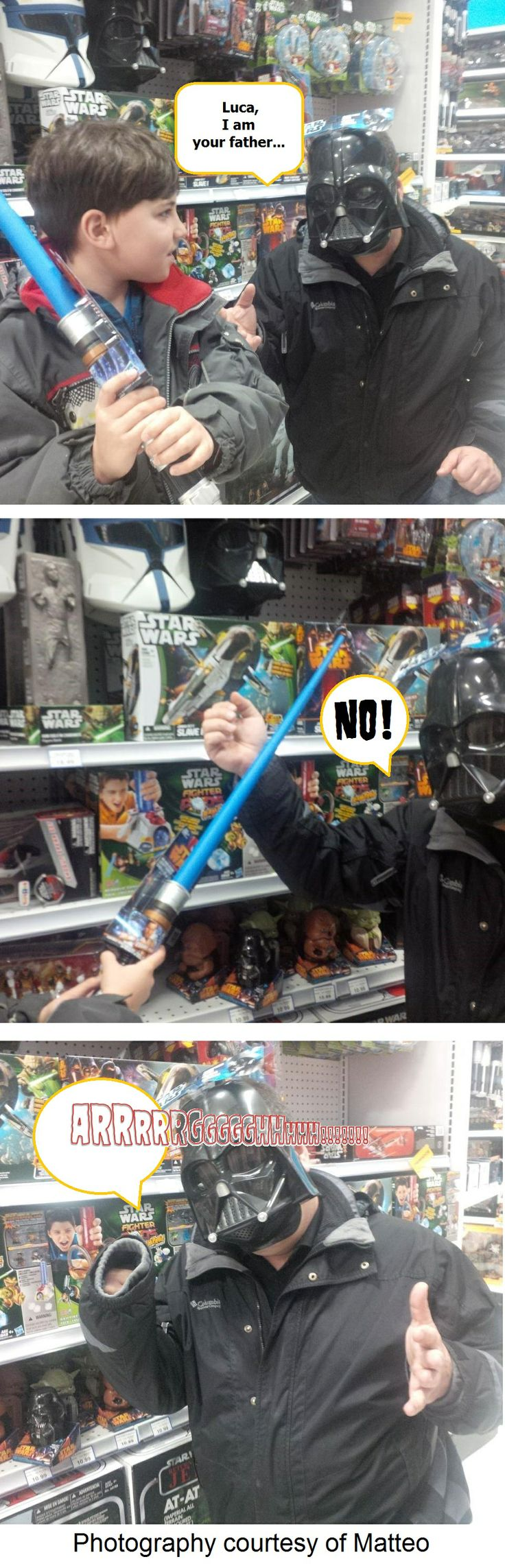 Playin' Star Wars at Toys R Us - Thank-you to the kind staff for not kicking us out!