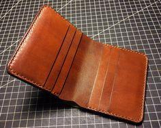 Bifold curtido vegetal hombres billetera de cuero / hombre cartera / hombre personalizados cuero / minimalista monedero / carpeta de cuero de grano completo natural