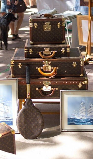 LV ~ beautiful luggage  - Explore the World with Travel Nerd Nici, one Country at a Time. http://TravelNerdNici.com