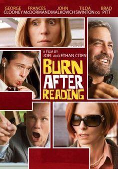 Burn After Reading Movie DVD 2008 Used George Clooney, Brad Pitt, Francis McDormand, John Malkovich
