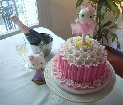 Cute: Hello Kitty Cakes, Kitty Birthday, Cakes Ideas, Birthday Parties, Pink Cakes, Cakes Decor, 21St Birthday Cakes, Parties Ideas, Kid