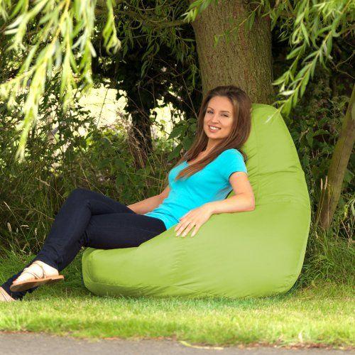 Designer Recliner Gaming Bean Bag AQUA Indoor Outdoor Beanbag Chair Water Resistant By BazaarR