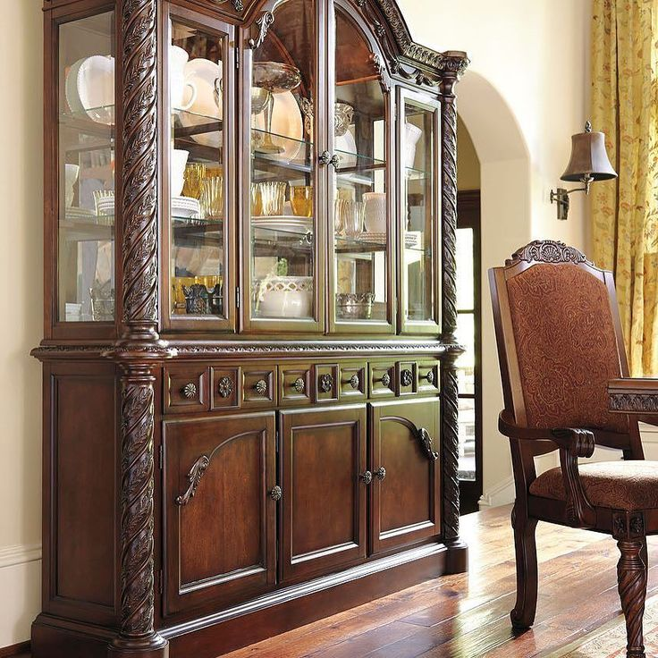 That Furniture Outlet - Minnesota's #1 Furniture Outlet. We have exceptionally low everyday prices in a very relaxed shopping atmosphere. Ashley North Shore Dark Brown China Cabinet http://ift.tt/2bbD6DE #thatfurnitureoutlet  #thatfurniture