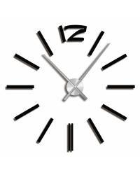 Praktické samolepící hodiny v čerbé barvě s výraznými čárami místo číslic v pravidelném kruhu. Hodiny můžete umístit dle svých představ na plochu a vytvořit tak nevšední a stylový interiér. Hodinový strojek lze zavěsit na háček. Hodiny jsou nejen praktickým, ale především designovým doplňkem Vašeho int