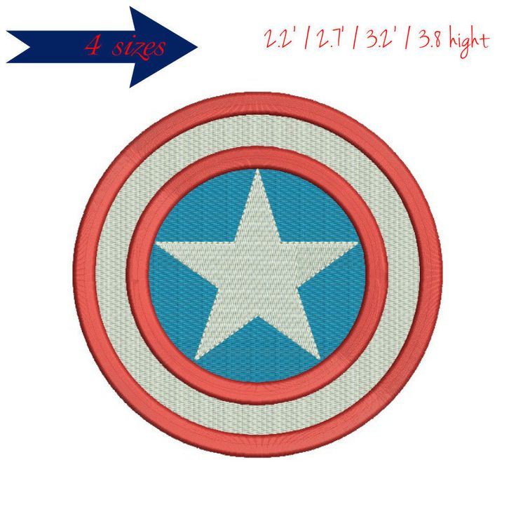 Captain America embroidery design  digital download USA Superhero Avengers Circular by GretaembroideryShop on Etsy