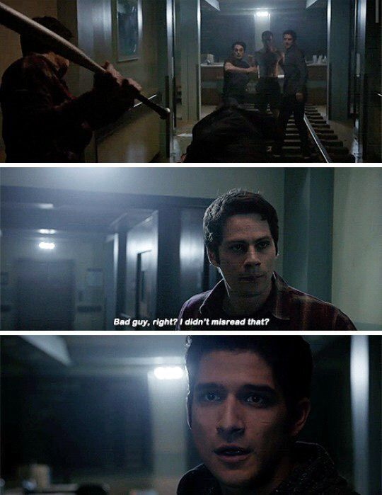 Love this scene!!!!  Stiles to the rescue w/ humor and sarcasm!