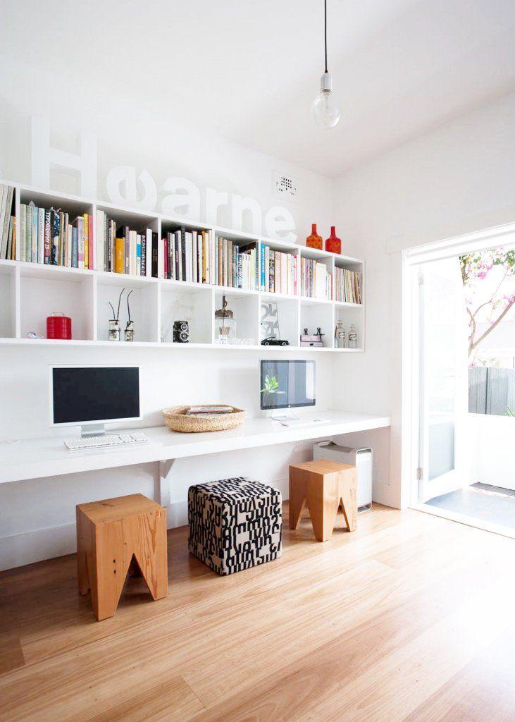 Les 25 meilleures id es de la cat gorie bureau pour deux for Idee pour travailler chez soi