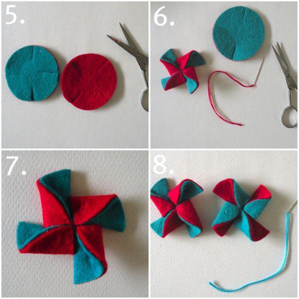DIY feltro Pinwheel Comb | Blog Heartmade