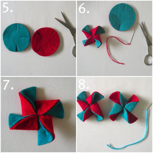 DIY Felt Pinwheels #tutorial