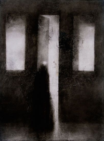 Painting by Timo Sälekivi: Outo valo / A Strange Light