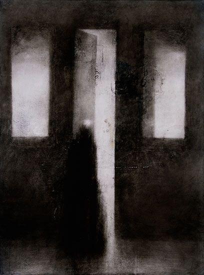 Painting by Timo Sälekivi: Outo valo / A Strange Light