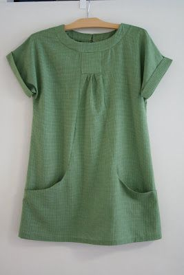 mortadella makes: Lisette Portfolio Tunic--could this be done with kimono sleeves?