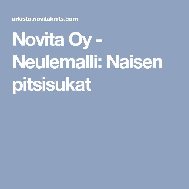 Novita Oy - Neulemalli: Naisen pitsisukat