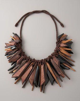 Donna Karan - Large Cluster Necklace (Black) $1,495.00
